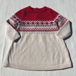 Baby GAP Fair Isle Sweater Dress6-12 M